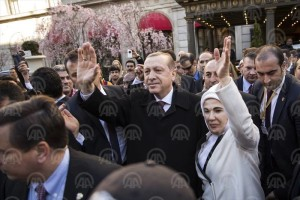 Presidenti Erdogan pritet me entuziazëm nga turqit në SHBA